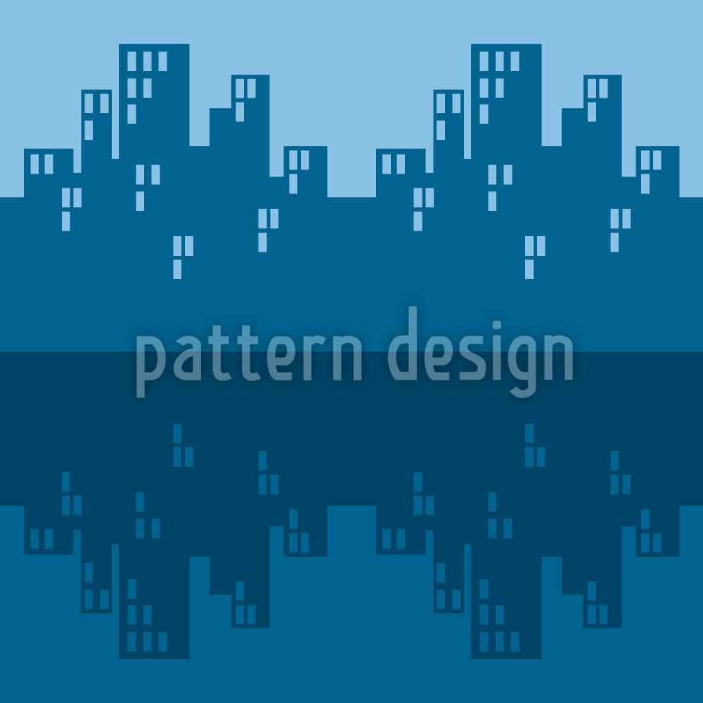 Designtapete Der Skyline Blues