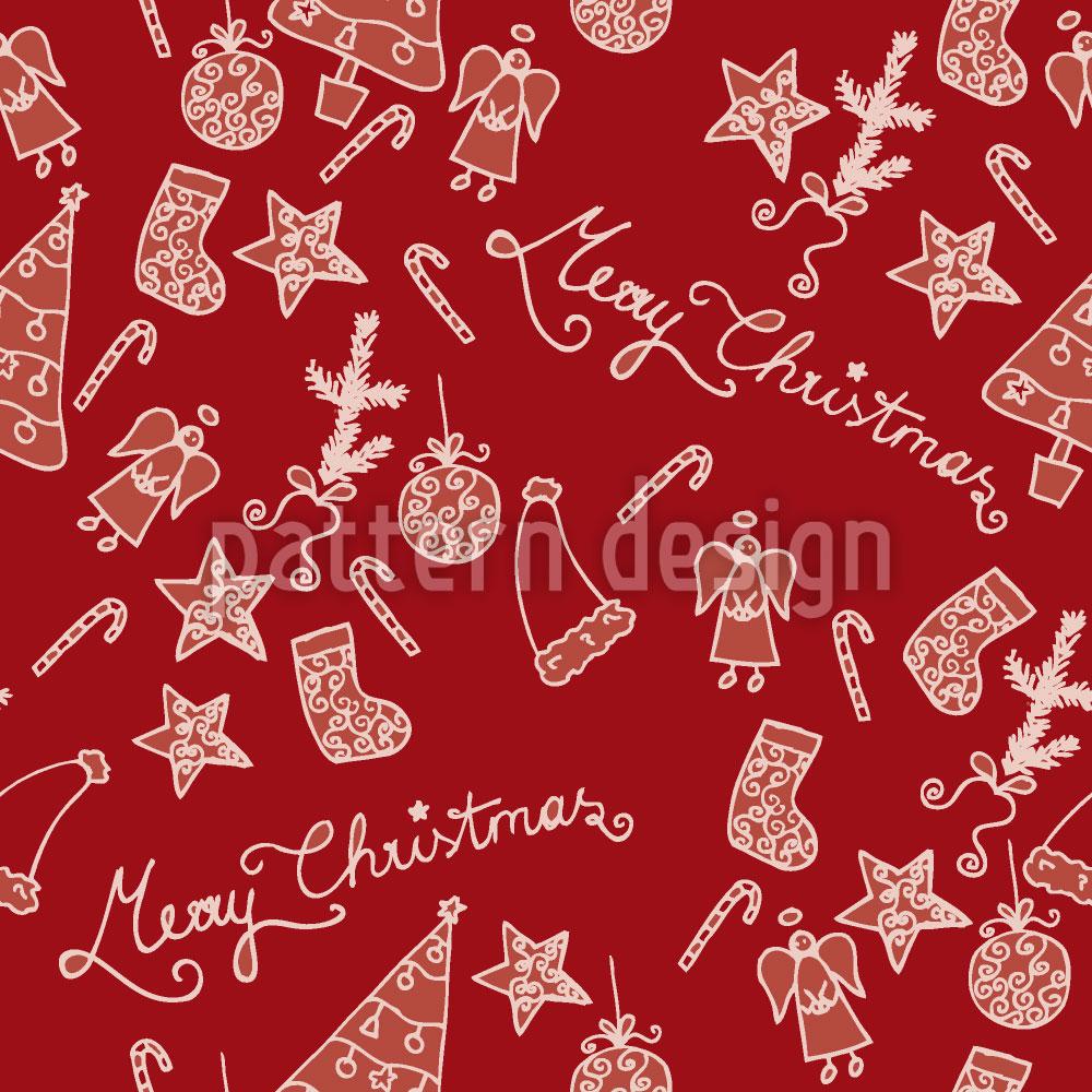 Designtapete Frohe Weihnachten