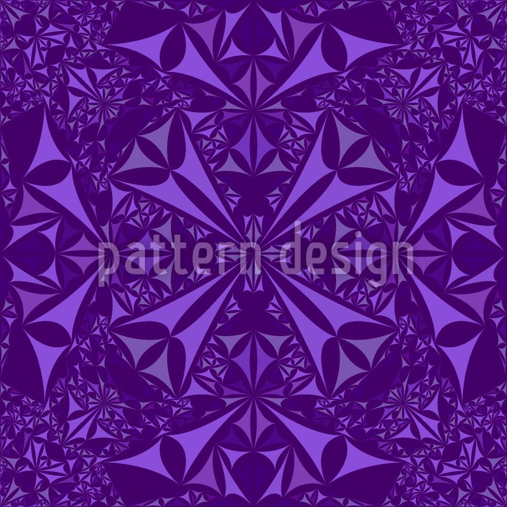 Designtapete Amethyst Kaleidoskop