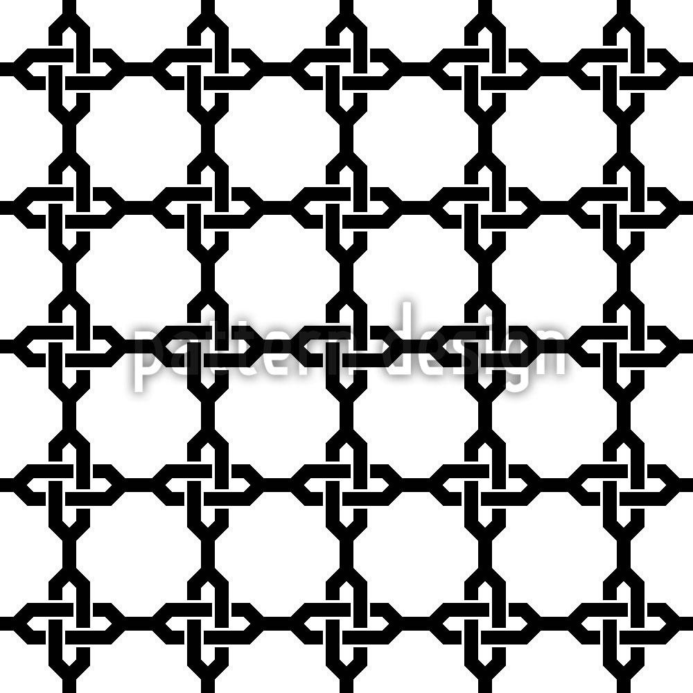 Designtapete Orientalische Ketten Kreuze