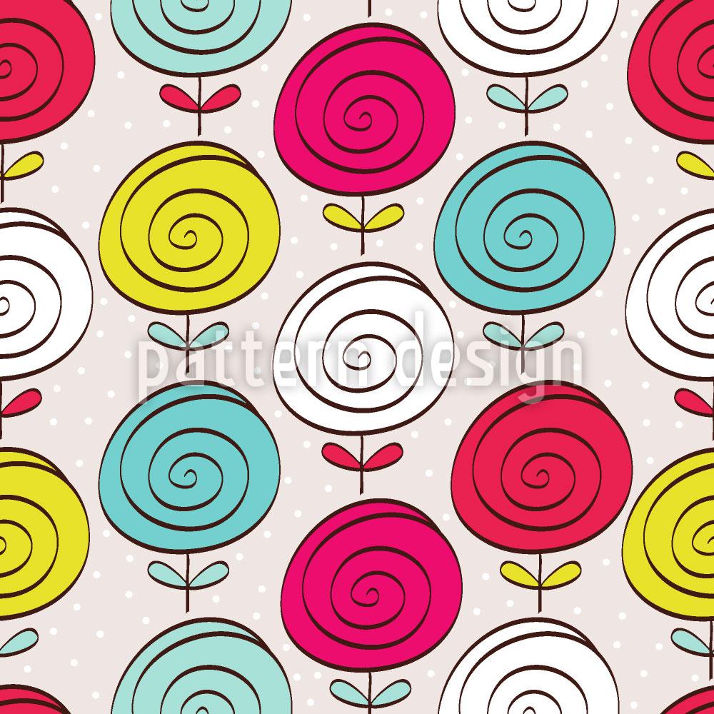 Designtapete Lollipop Blumen