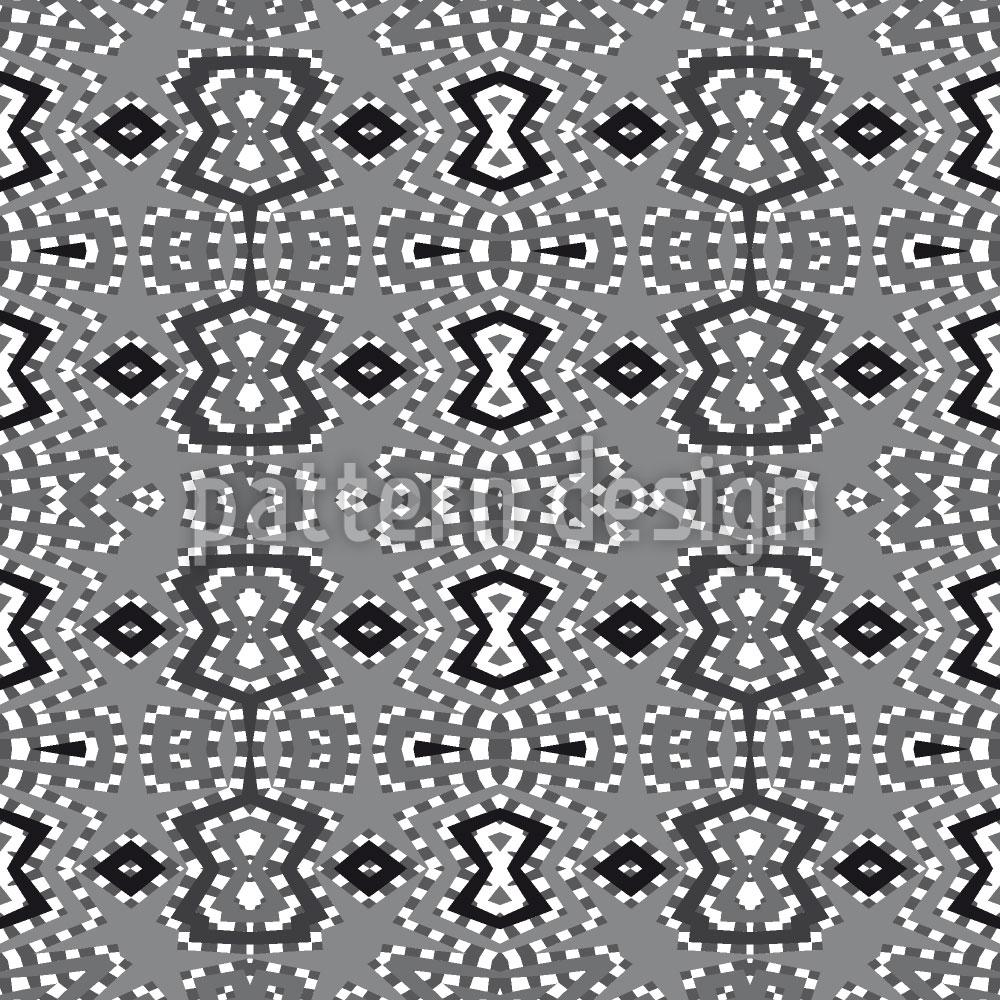 Designtapete Pixel Folklore