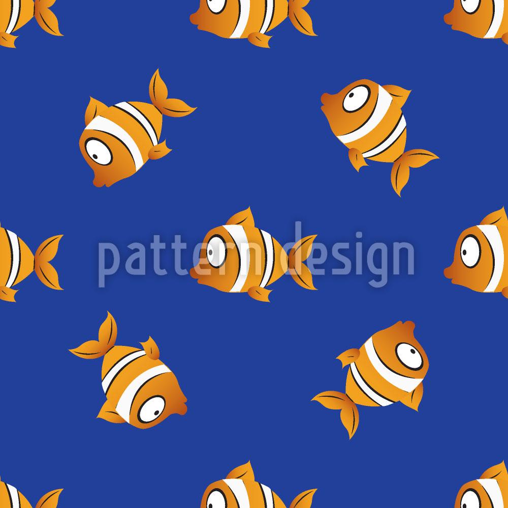 Designtapete Clownfische Bei Nacht