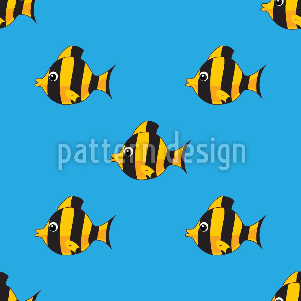 Designtapete Riff Fisch Formation