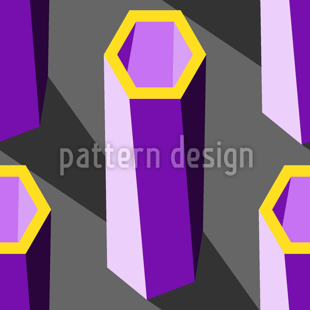 Designtapete Hexagon Säulen