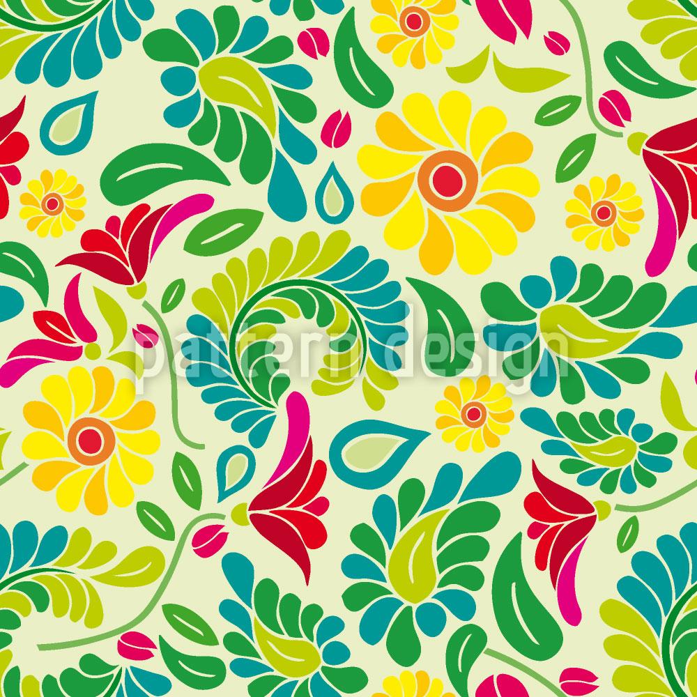 Designtapete Polnischer Blumen Traum