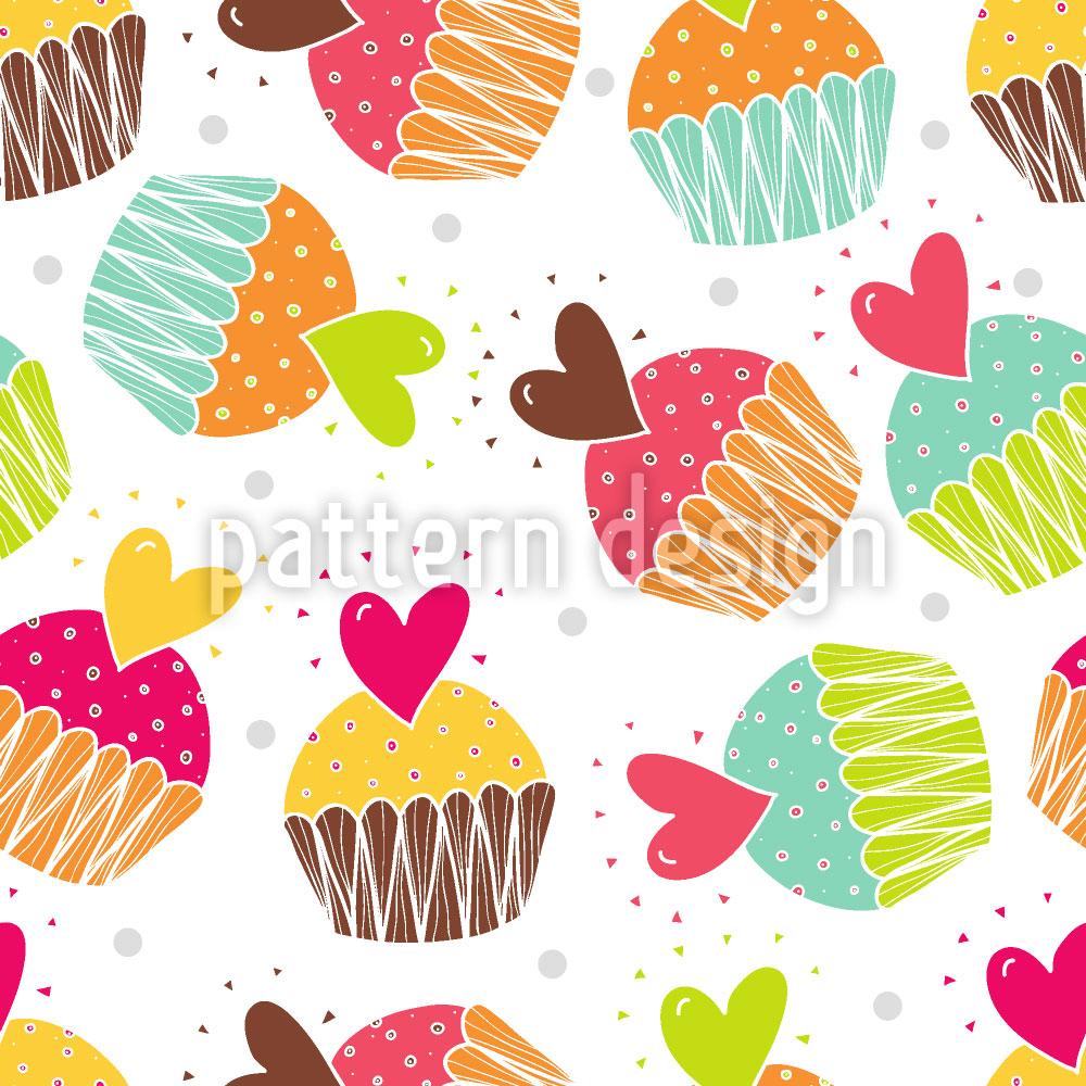 Designtapete Muffins Mit Herz