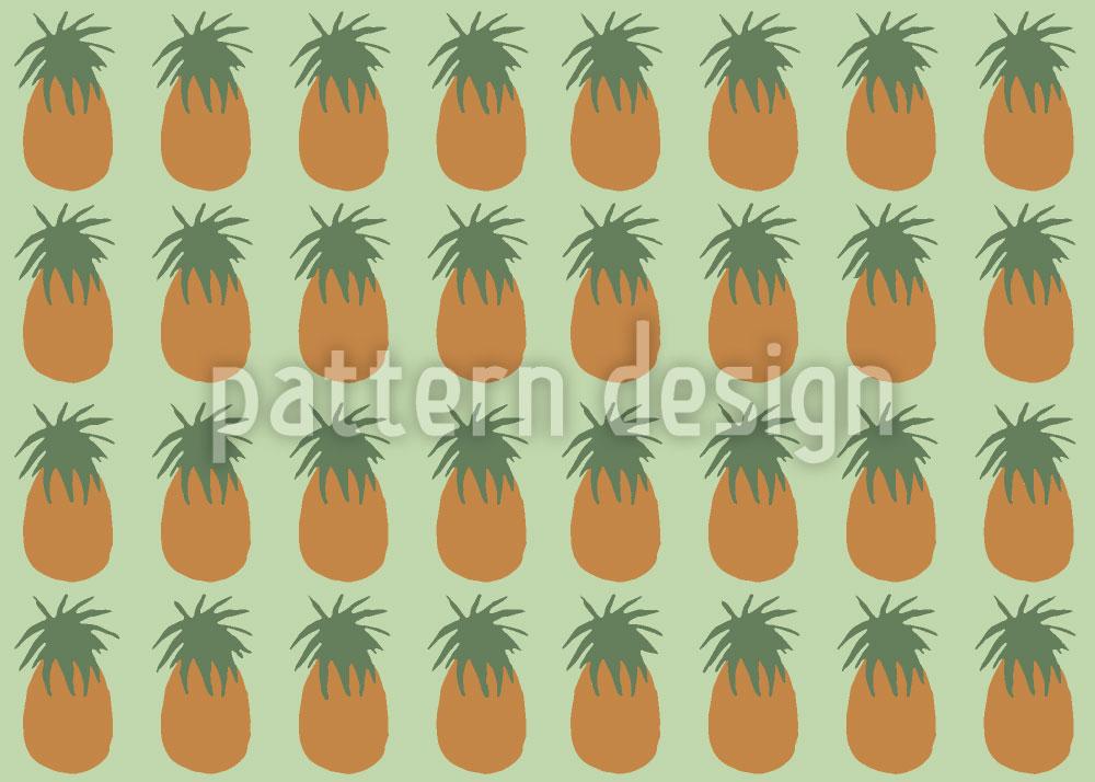 Designtapete Leckere Ananas