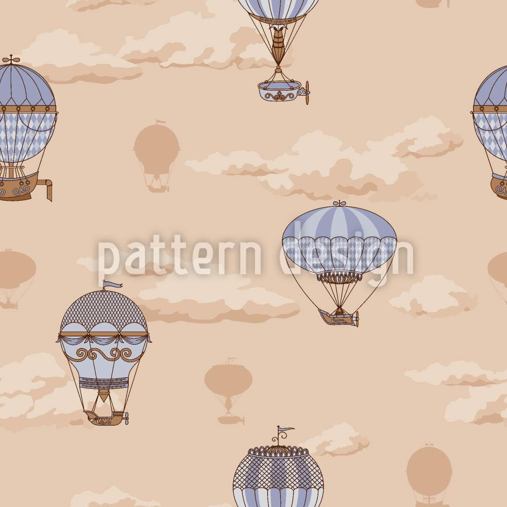 Designtapete Die Ballon Fahrten Der Gebrüder Montgolfier