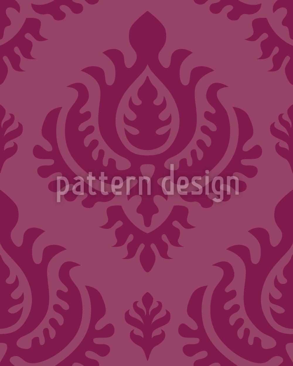 Designtapete Purpur Barock