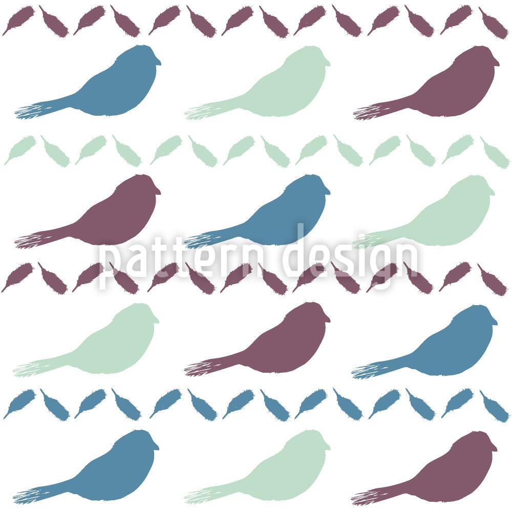 Designtapete Vogel Und Feder
