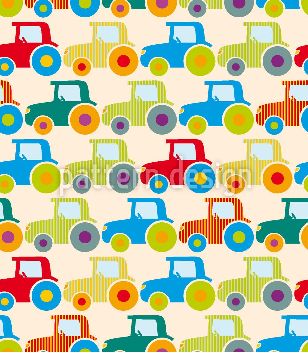 Designtapete Traktoren Show