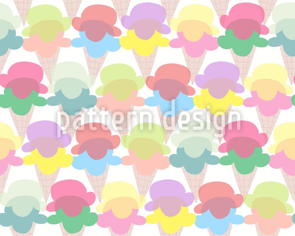 Designtapete Eiscreme Für Alle