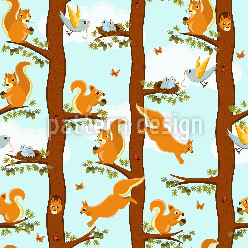 Designtapete Eichhörnchen Party