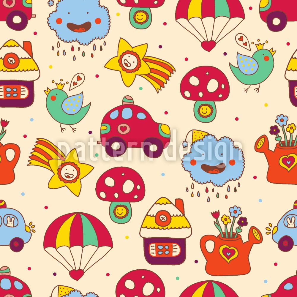 Designtapete Spielzeug Parade