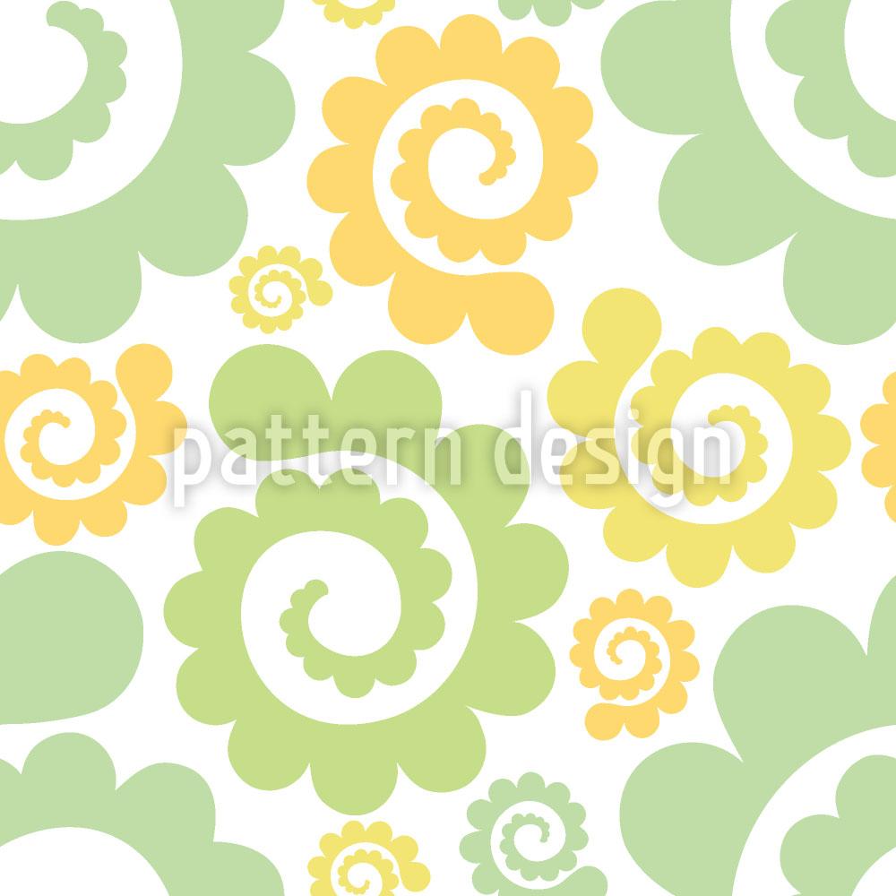 Designtapete Spiralen Im Frühling