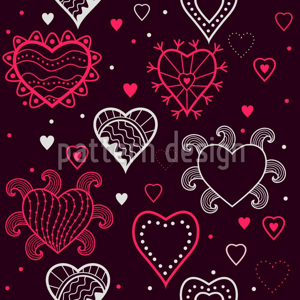Designtapete Ich Sehe Herzen
