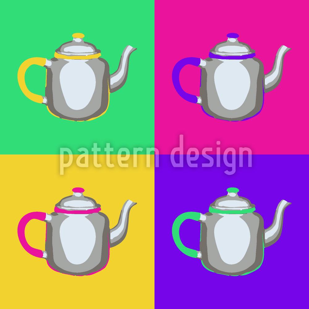 Designtapete Pop Art Kännchen