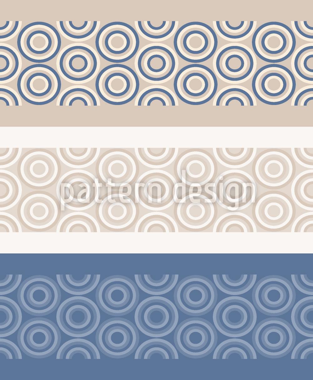 Designtapete Kreis Bordüre