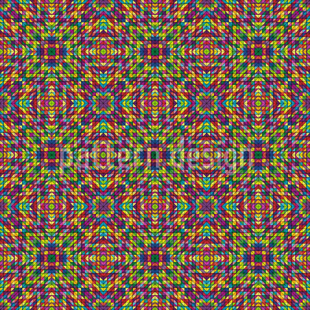 Designtapete Sommer Mosaik
