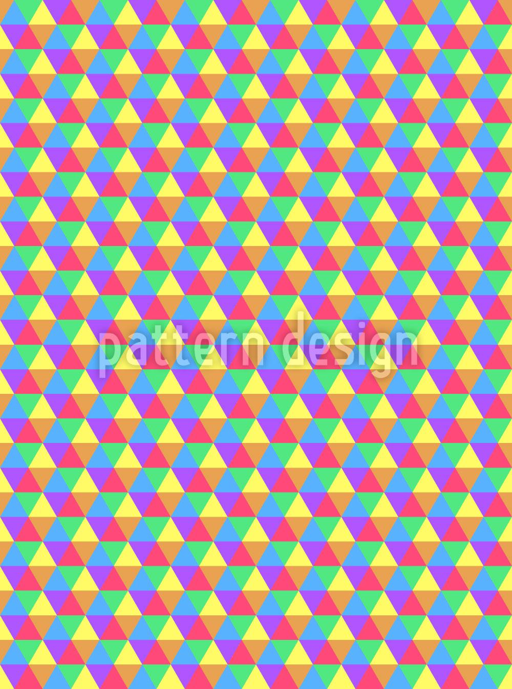 Designtapete Sommerliche Hexagons