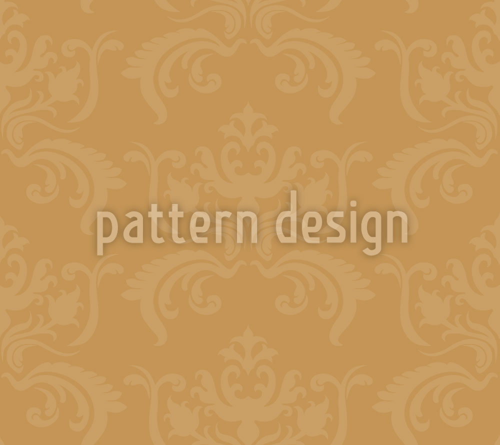 Designtapete Portos Barock Gold