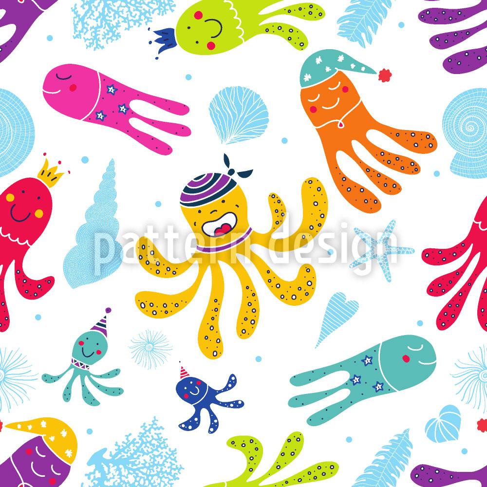 Designtapete Karneval Der Oktopusse