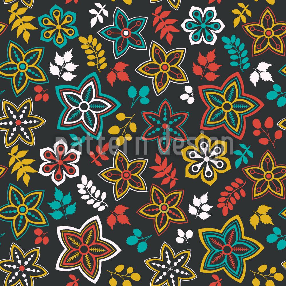 Designtapete Blüten Und Blatt Fantasie Einer Sommernacht