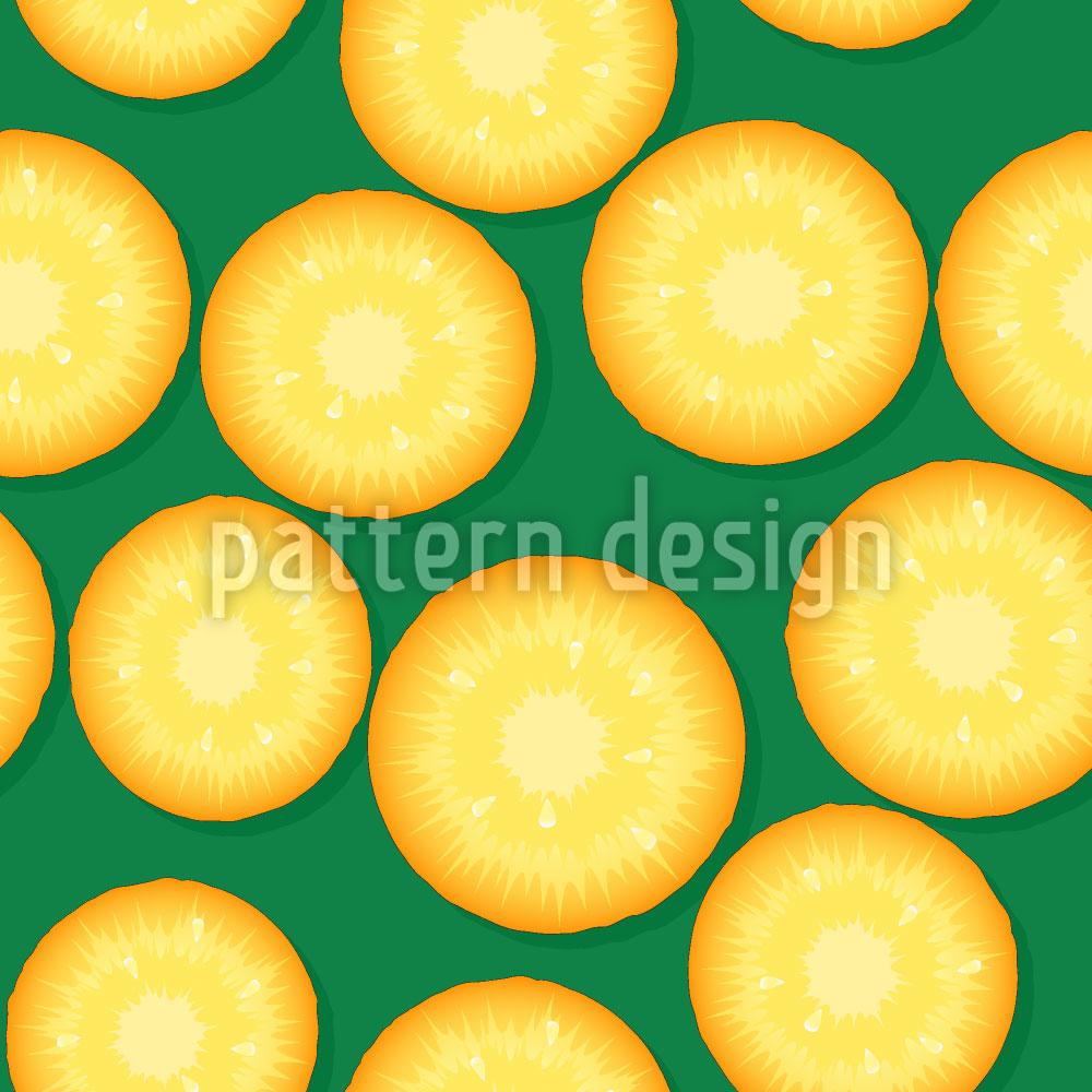 Designtapete Frische Ananas
