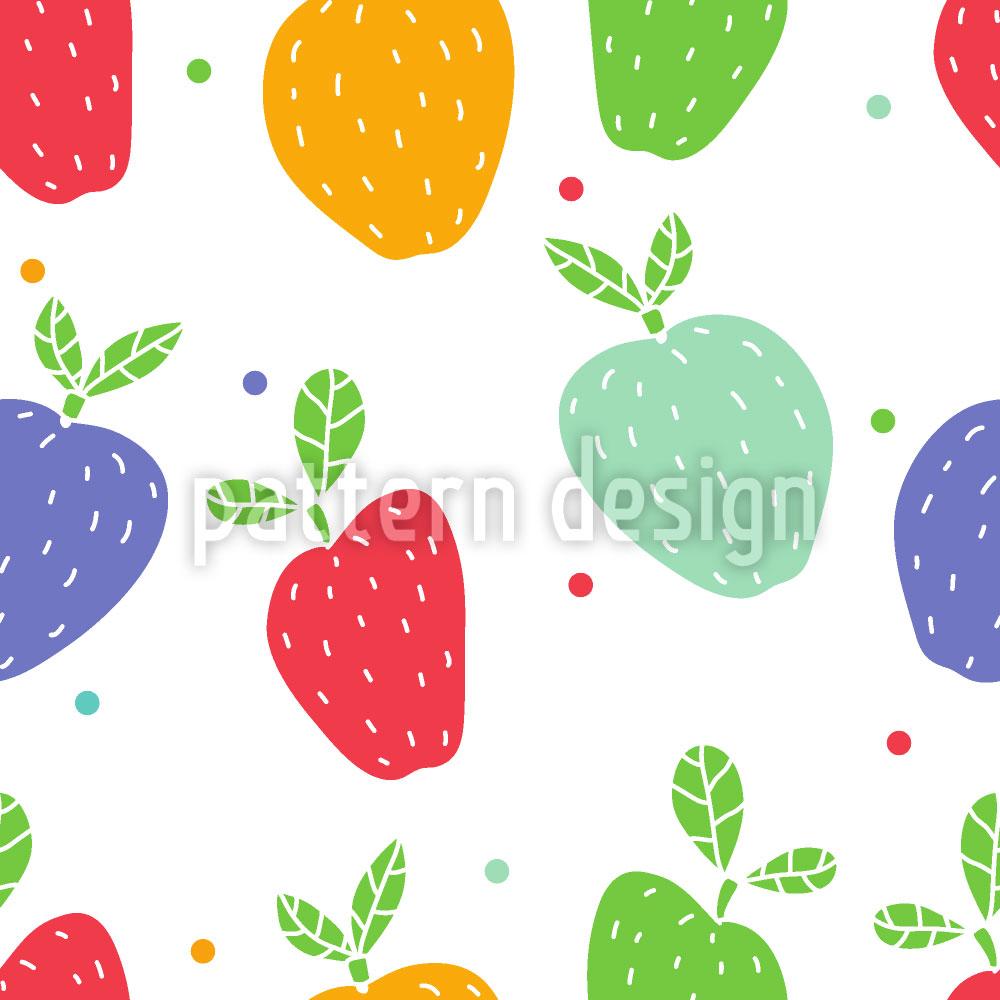 Designtapete Äpfel Auf Punkten