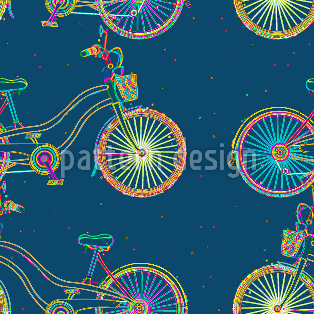 Designtapete Skurrile Fahrräder