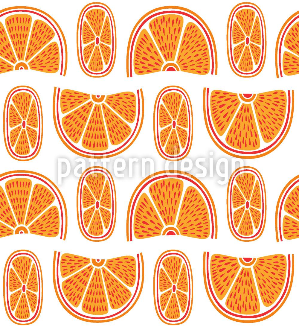 Designtapete Saftige Orangen