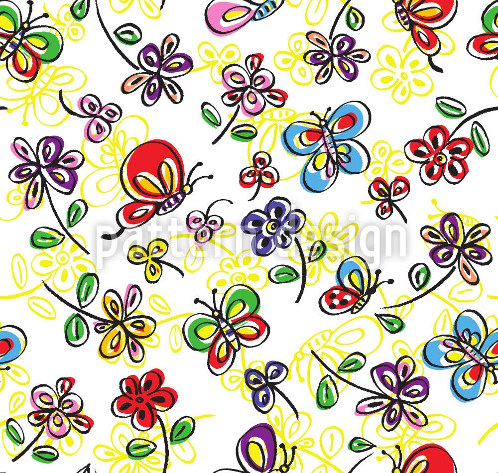 Designtapete Schmetterling Freude