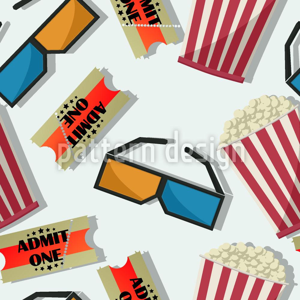 Designtapete Popcorn Im 3D Kino