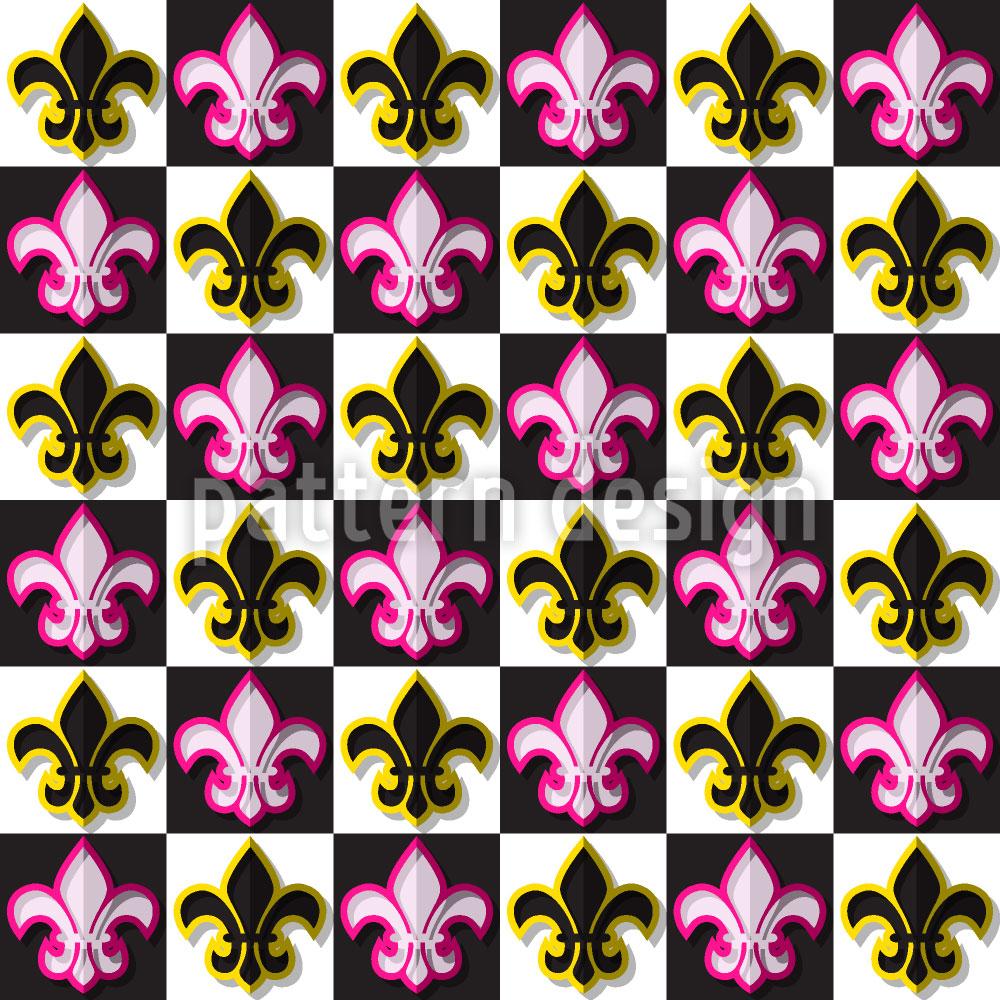 Designtapete Fleurs De Lis Schachmatt