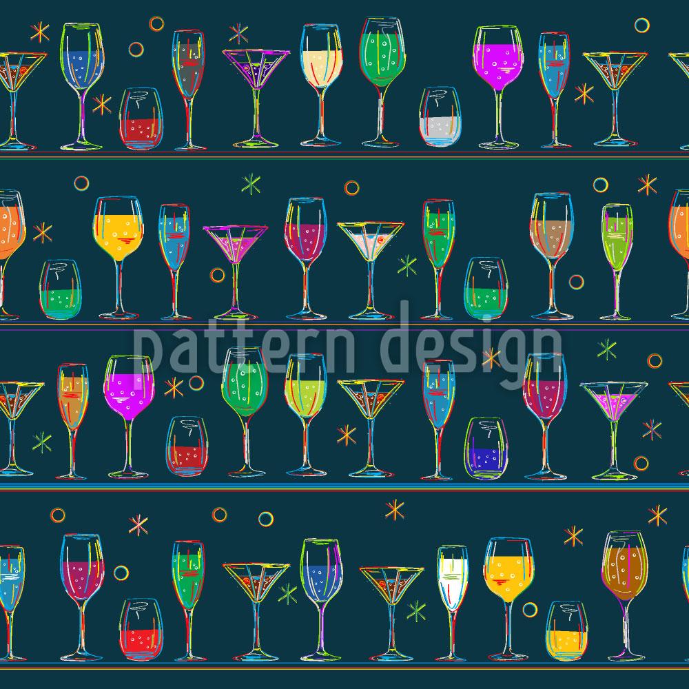 Designtapete Cocktails