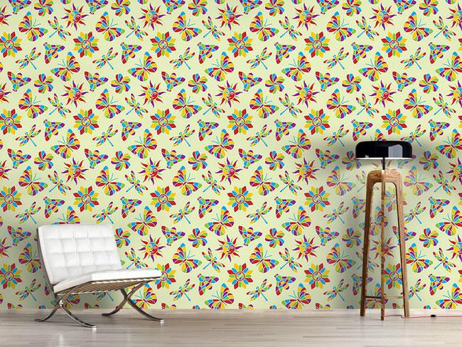 Designtapete Mosaik Des Sommers