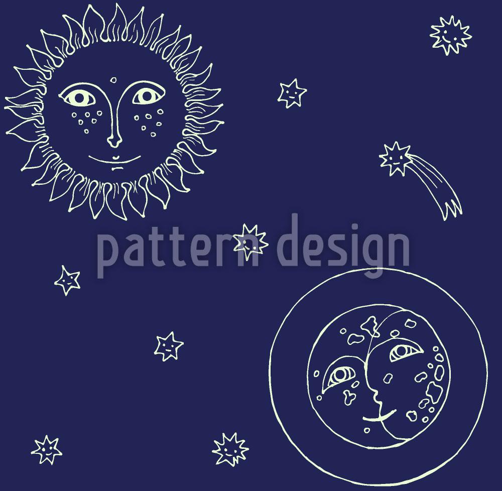 Designtapete Frau Sonne Und Herr Mond