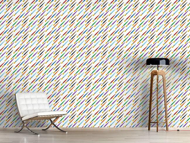 Designtapete Pinsel Diagonal