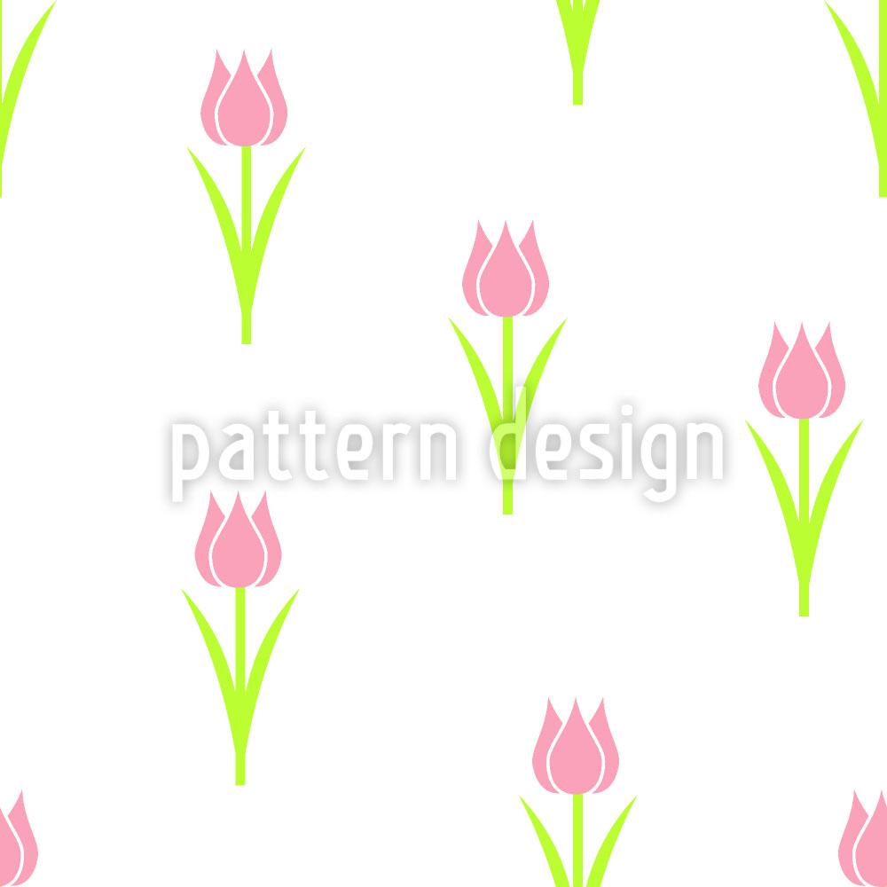 Designtapete Tulpen Solitaire