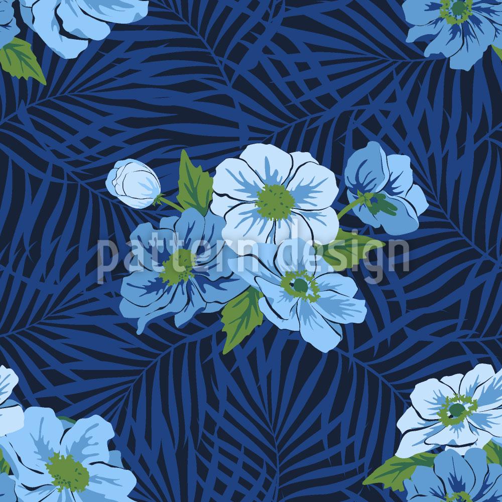 Designtapete Fidschi Blumen