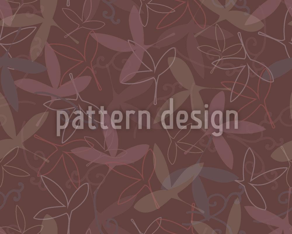 Designtapete Blütenblatt Silhouetten