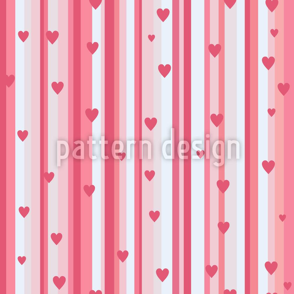 Designtapete Romantische Herzen Auf Streif