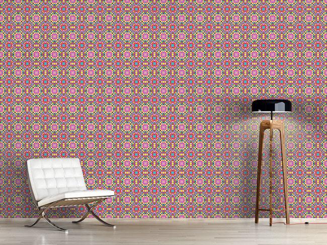 Designtapete Fröhliches Mosaik