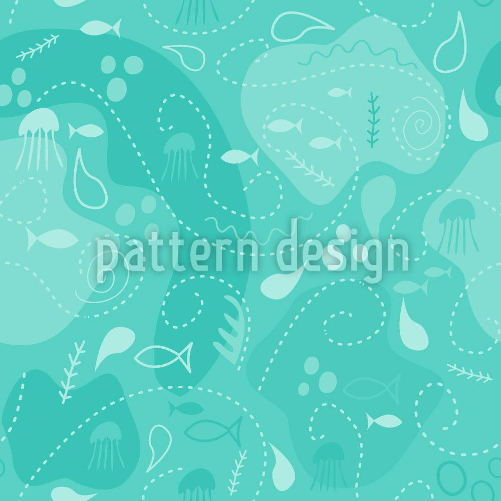 Designtapete Miros Unterwasser Patchwork