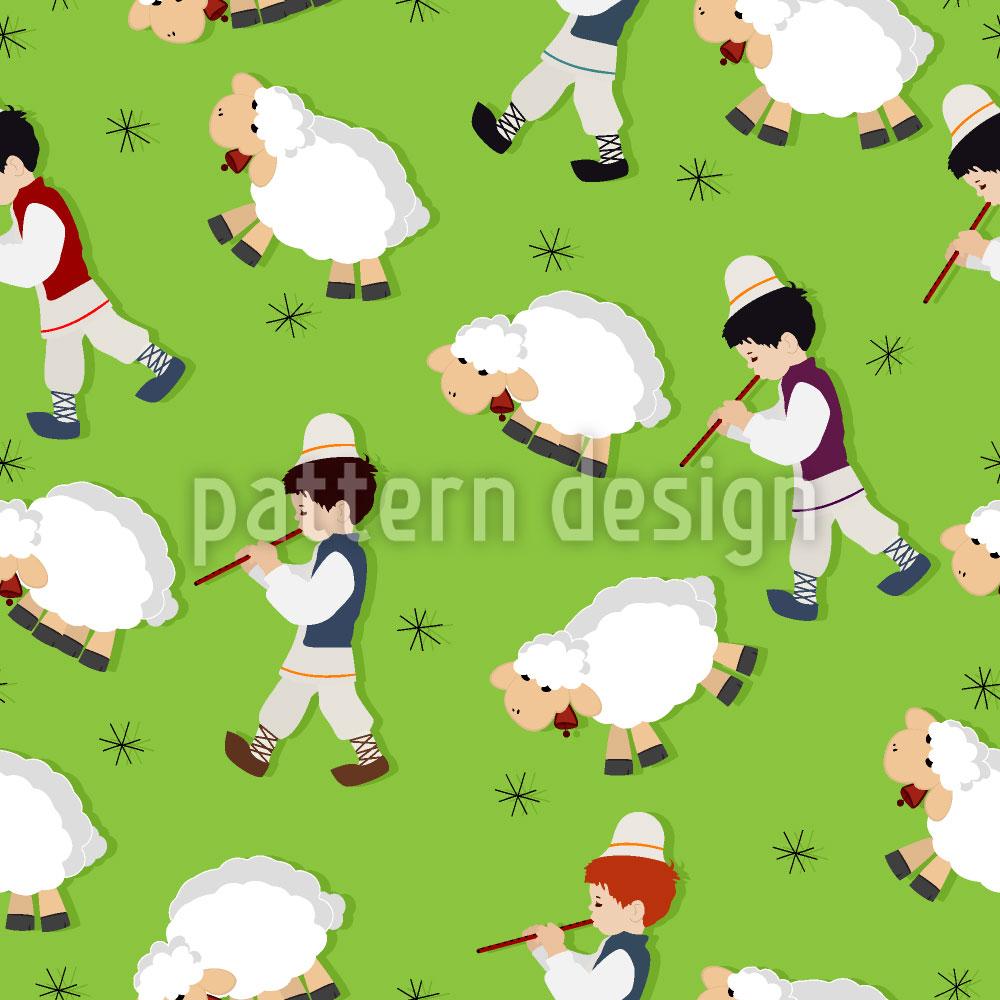 Designtapete Der Kleinen Schafhirten