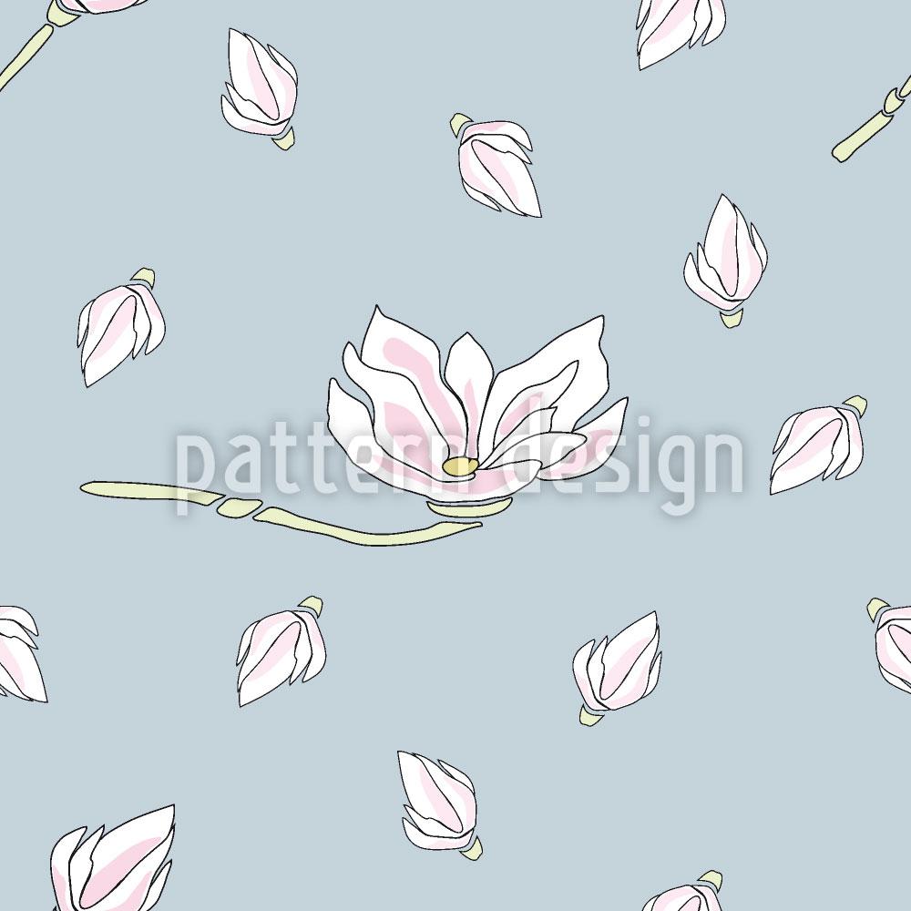 Designtapete Magnolien Blüte