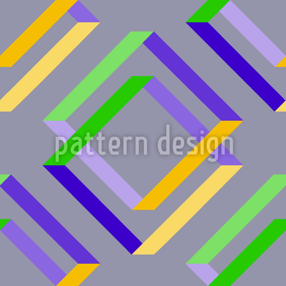 Designtapete Quadratische Täuschung