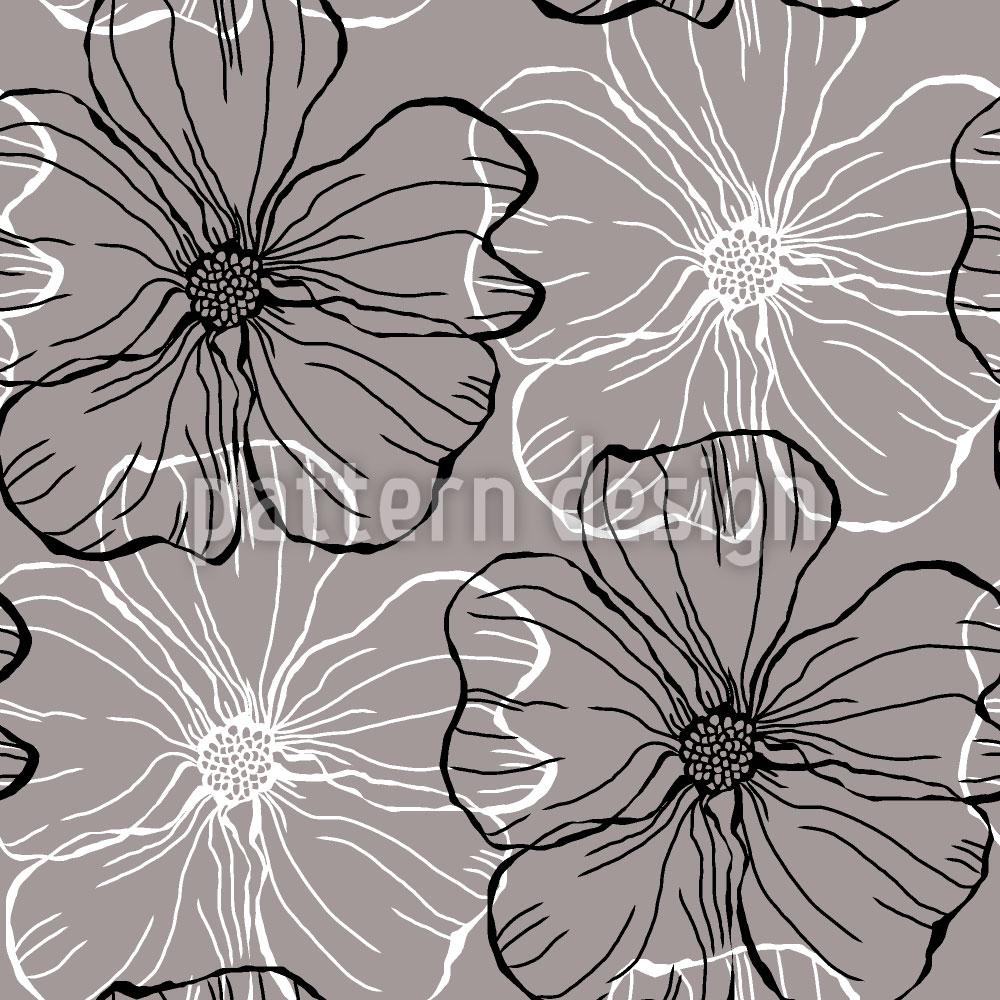 Designtapete Malven Blüten