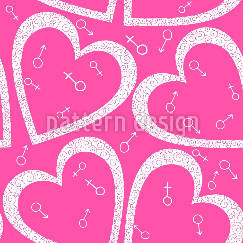 Designtapete Herz Für Sie Und Ihn
